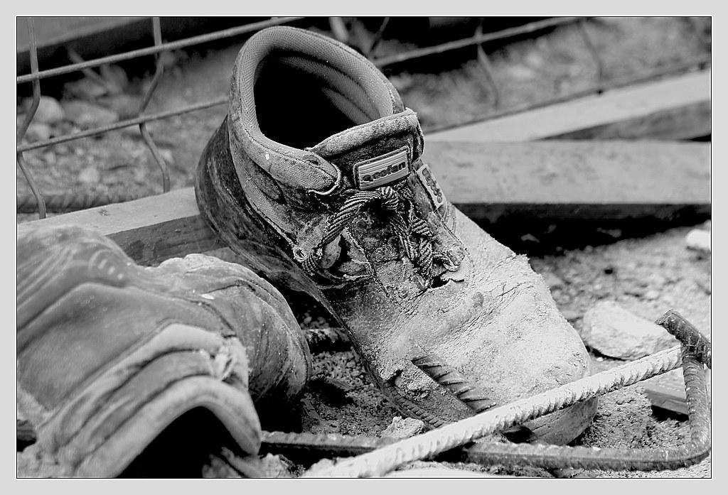 calzado de albañil