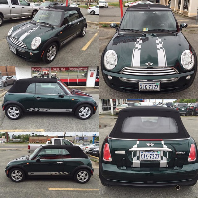 Mini Cooper -  Custom Sport and Side Stripes with Mini cutout