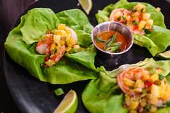 Lettuce Wraps - Shrimp, Tropical Fruit Salsa, Sun…