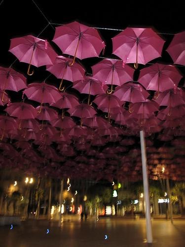 Umbrellas by night