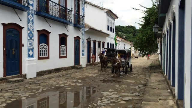 Horse and Buggy at High Tide - Paraty
