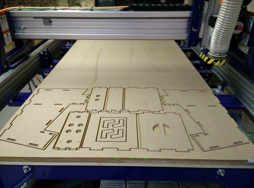 Cutting arcade cabinet on the shop bot