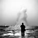 Geyser - Iceland - Black and white street photography by Giuseppe Milo (www.pixael.com)