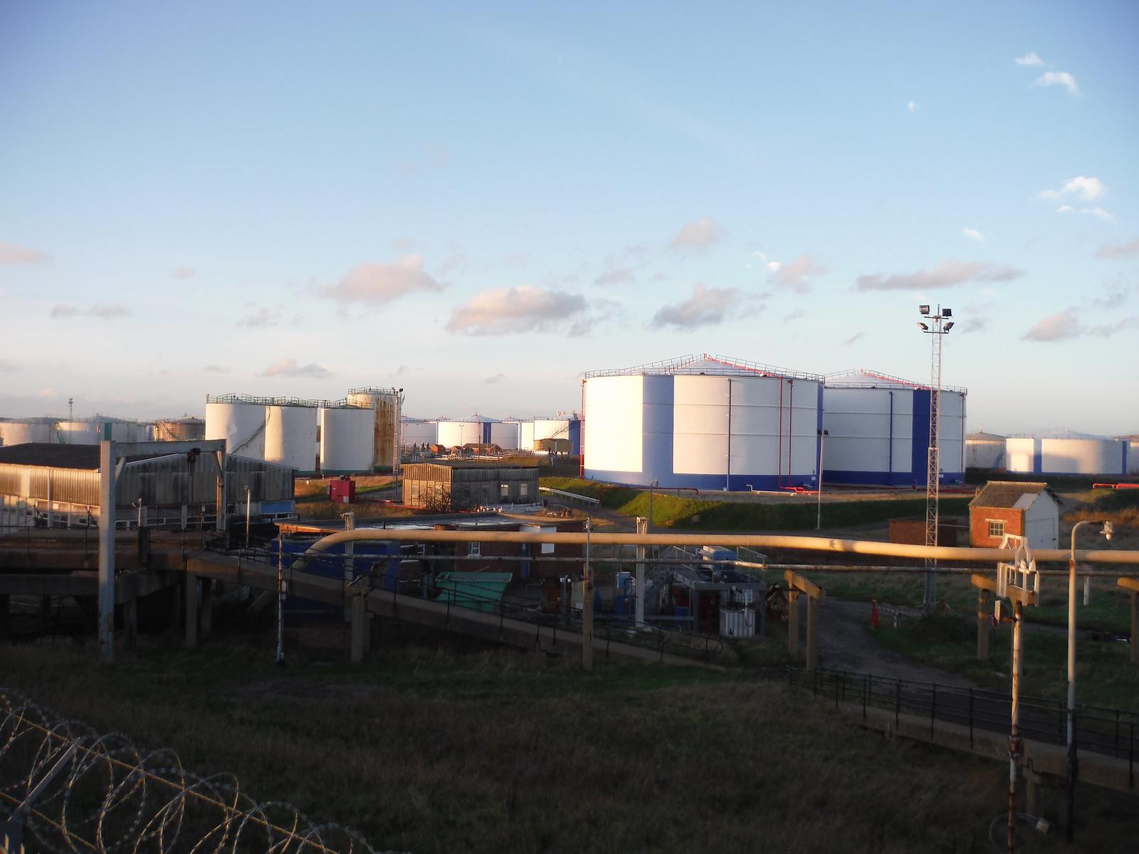 Oikos Oil Product Terminal, Canvey Island SWC Walk 258 Benfleet Circular (via Canvey Island)