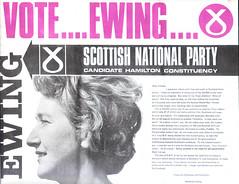Winnie Ewing SNP leaflet, Hamilton by-election 1967
