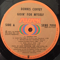 DENNIS COFFEY:GOIN' FOR MYSELF(LABEL SIDE-A)