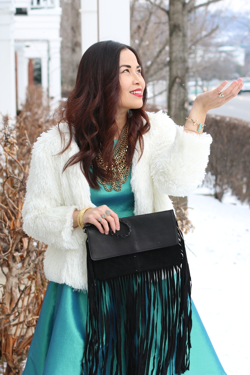 Shabby-Apple-green-dress-outfit-snow-1