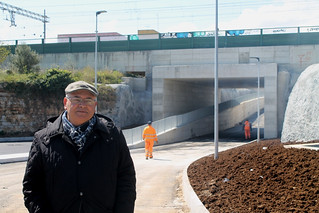 Salvatore Colella e il sottopasso di via San Francesco inaugurato nel 2015
