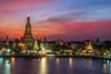 Bangkok Sunset Wat Arun by Adrians Photos