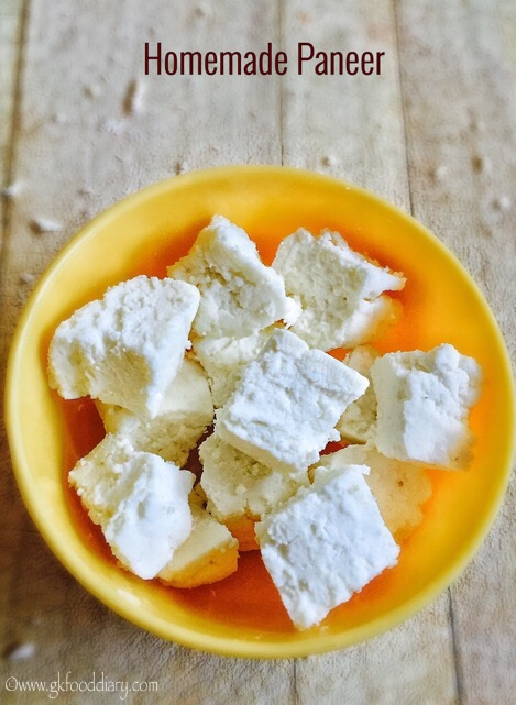 Homemade Paneer Recipe for Babies, Toddlers and Kids