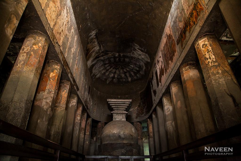 Ajanta Cave 9 - 1st Century Buddhist Prayer Hall