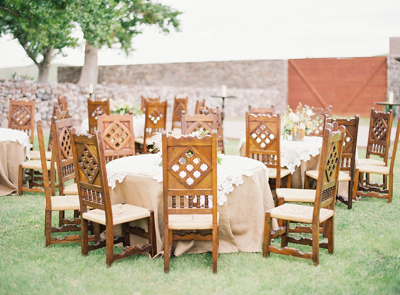 Outdoor wedding reception | Rustic Ranch Wedding