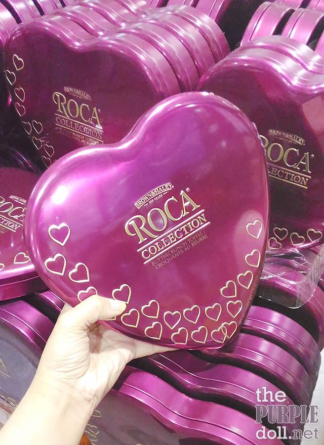 B&H Almond Roca Heart Tins