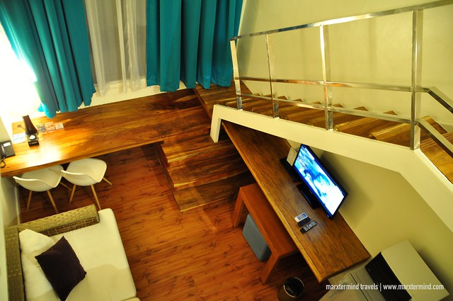 Living Area at One Bedroom Loft Ferra Hotel Boracay