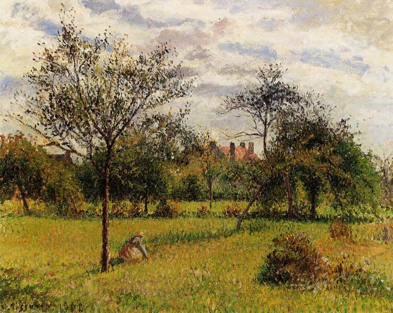Morning, Autumn Sunlight, Eragny by Camille Pissarro, 1900