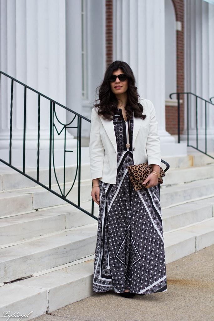 printed maxi dress, white blazer, leopard clutch-4.jpg