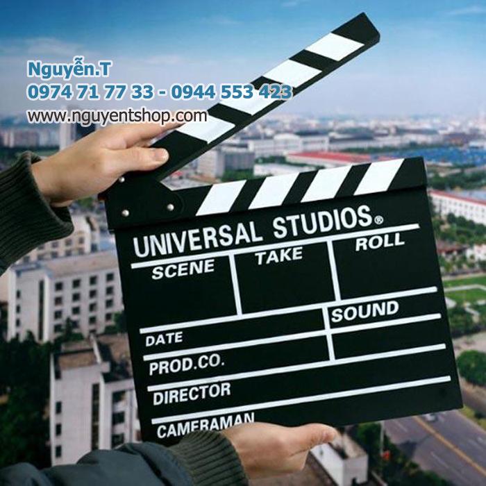 Bảng Clapper board  Universal Studios hỗ trợ quay phim