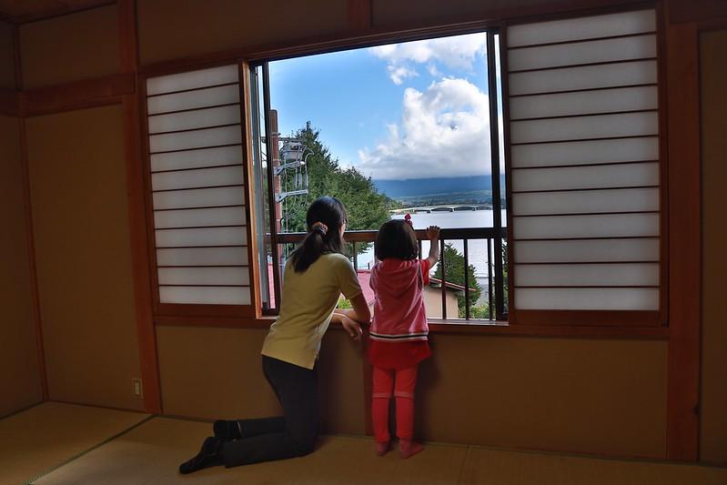 從窗口就可以看到富士山
