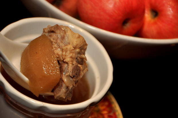 Double Boiled Spare Rib with Apple and Almond Soup