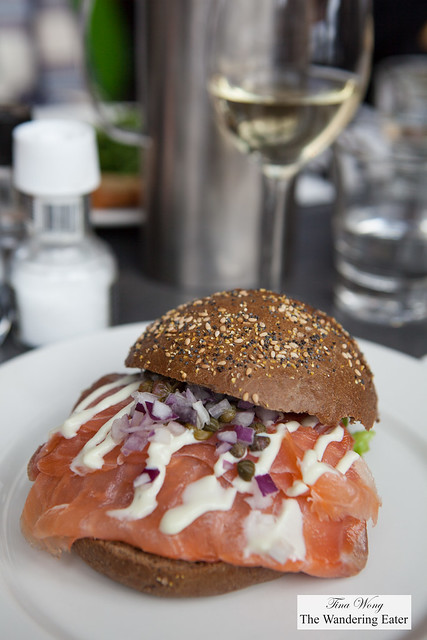 Smoked salmon sandwich at IJ Kantine