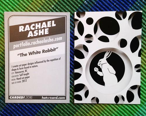 The White Rabbit as an artist trading card