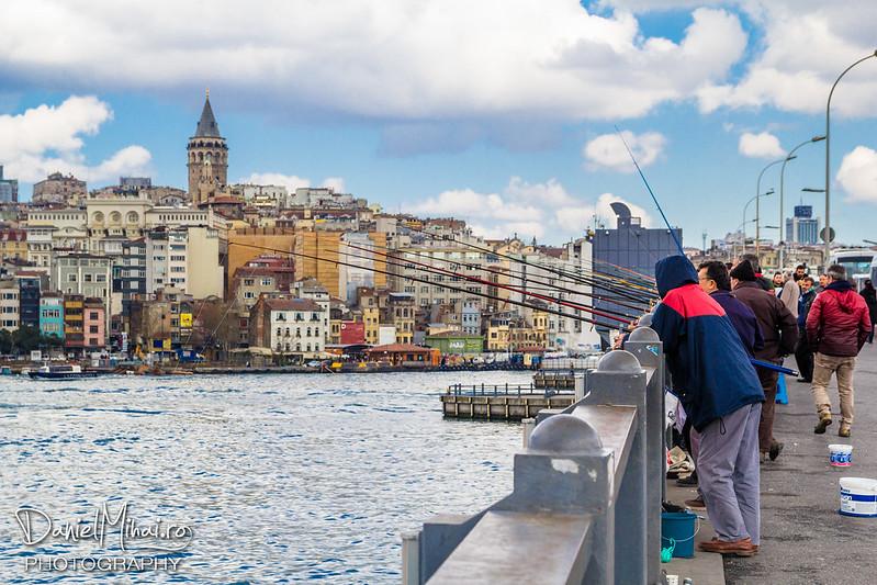 Fishermen on Galata bridge - Istanbul by Daniel Mihai