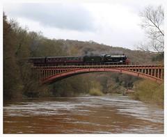 Steam locomotive 7802 Bradley Manor on Victoria Bridge.