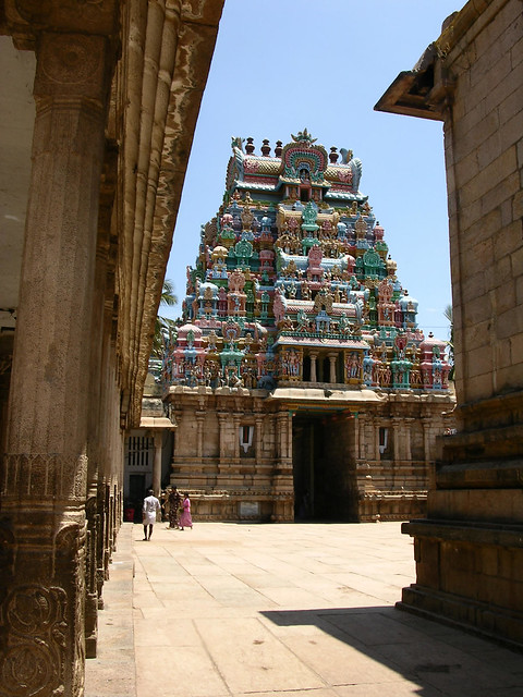 Interior del templo Sri Ranganathaswamy