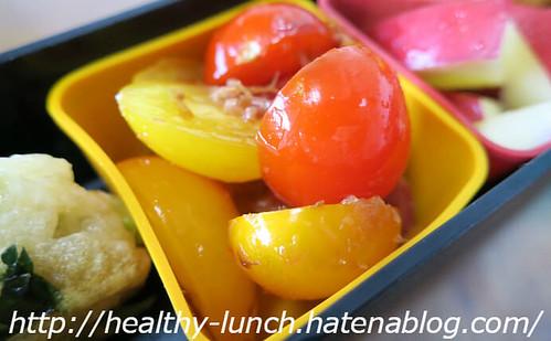 お弁当、2016-5-2、トマトのおかか和え