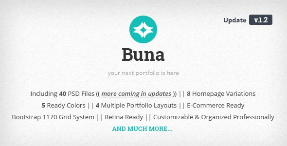 Themeforest Buna v1.2 - Your Next Agency/Portfolio Template