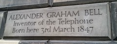 Photo of Alexander Graham Bell stone plaque