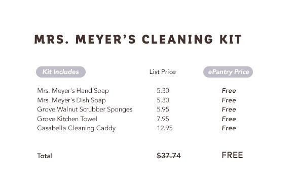 Free Mrs. Meyer's Cleaning Kit | yourwishcake.com
