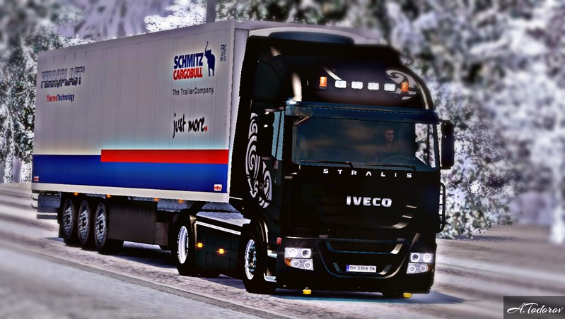 Iveco Stralis ALL BLACK ETS2