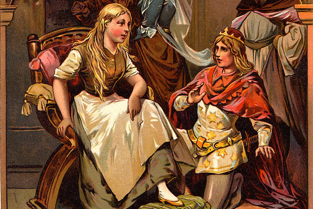 Cinderella, from a book of Germany fairytales c. 1919. Courtesy Wikimedia/Creative Commons