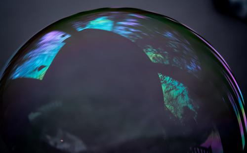 world blue winter reflection mi river circle cabin woods round bubble fernridge december2015
