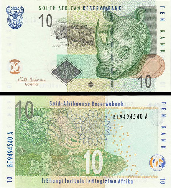 10 Randov Južná Afrika 2009, P128b UNC