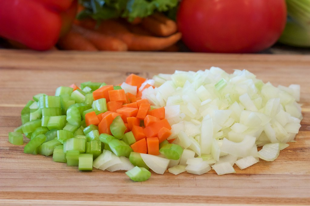 Diced Celery, Diced Carrots, Diced Onions