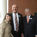 Rep. Rosa Rebimbas, Liberty Bank President and CEO Chandler Howard and Chairman Mark Gingras during the ribbon cutting ceremony for the new Liberty Bank branch on Church Street in Naugatuck.