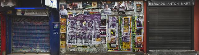 Mercado Anton Martin carteles wall (2016)