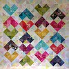 SEW KATIE DID:Warm and cool hearts color value quiltJPG