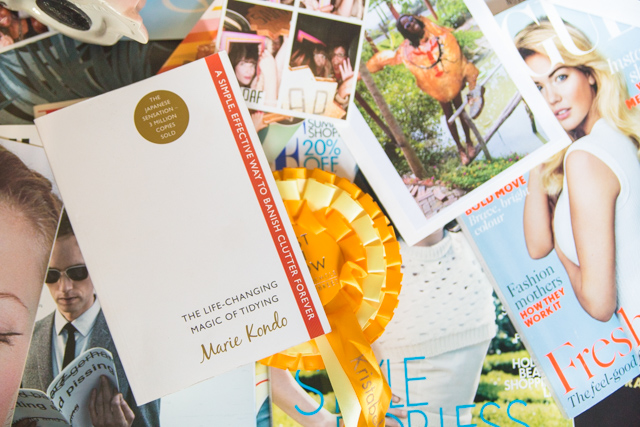 Using the Marie Kondo book to tidy up