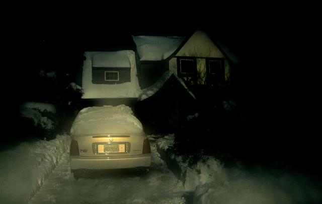 Suburban snow scene 72