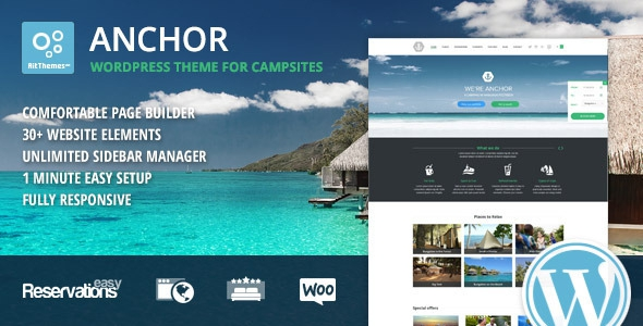 Anchor v1.94 - Hotel Theme with Reservation System