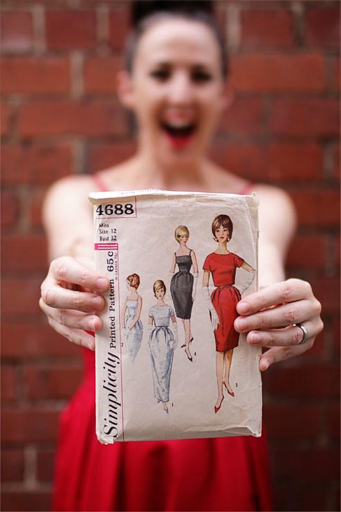 Red Vintage Dress #1