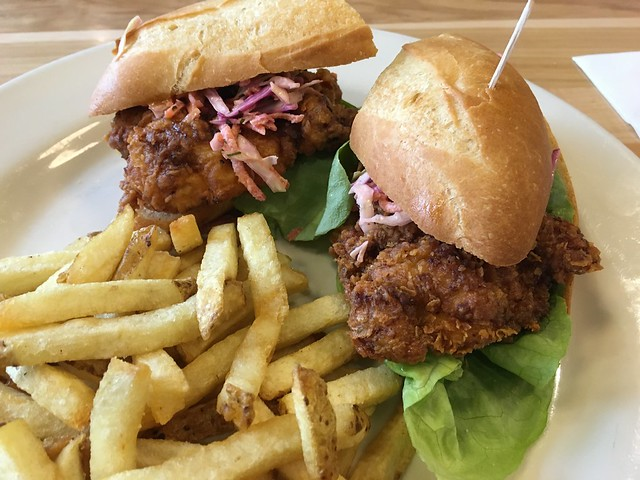 Mary's spicy fried chicken sandwich - Red Dog Restaurant