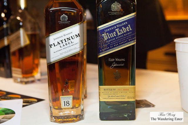 Johnny Walker Blue Label and Platinum Label whisky
