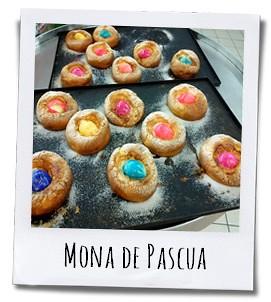 In menig Alicantijnse huiskamer serveert men aan het eind van de Heilige Week een Mona de Pascua als dessert