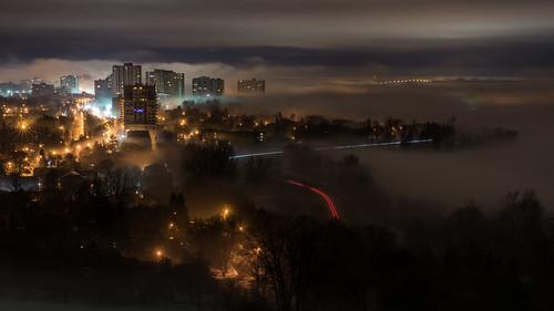 Foggy Night in Ottawa : March 16, 2016