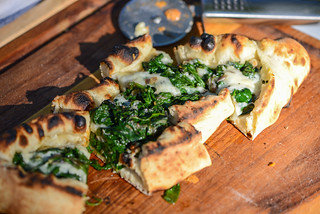 Turkish Spinach and Cheese Pides