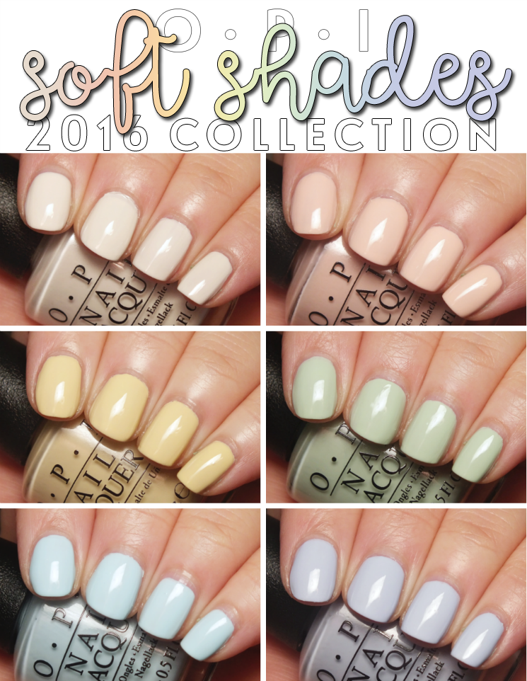 OPI Soft Shades 2016 collage